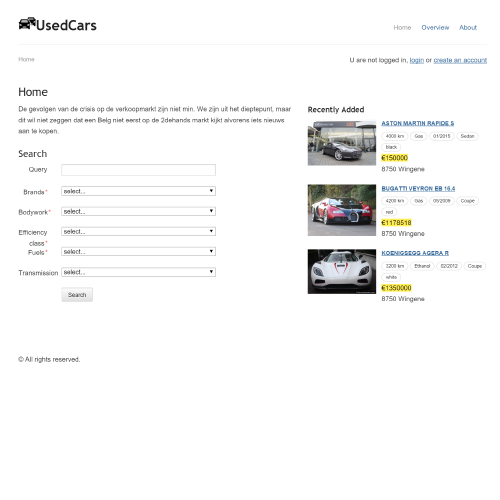 UsedCars Site